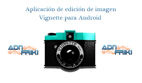 aplicación de edición de imagen vignette